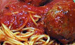 spaghetti and veggie meatballs