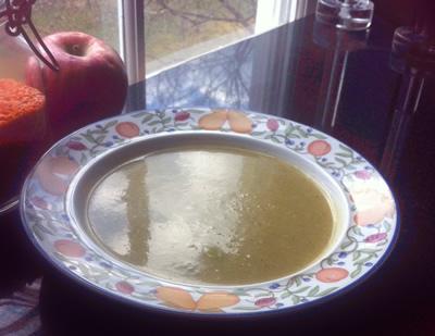 cauliflower & broccoli pureed soup – (vegan, vegetarian)